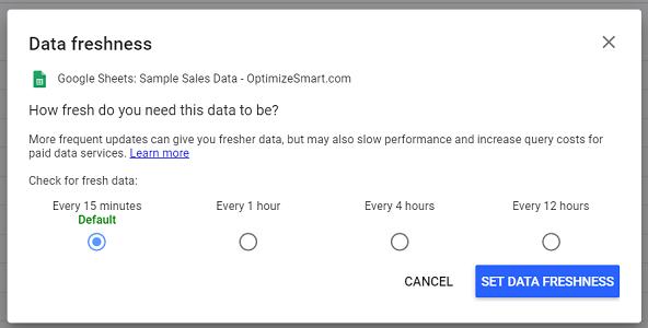data freshness google sheets