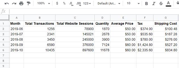 google sheets data source 3
