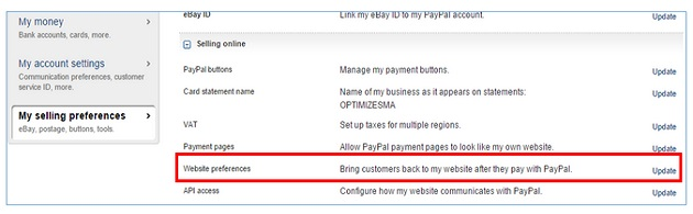 referrers payment gateways website preferences