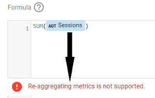Re-aggregating metrics is not supported