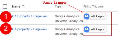 same trigger