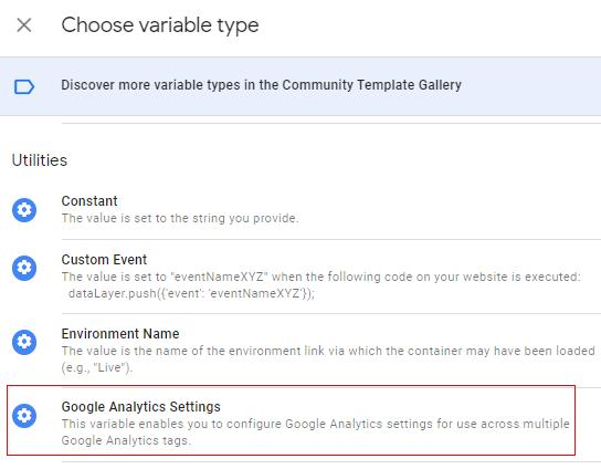 settings variable