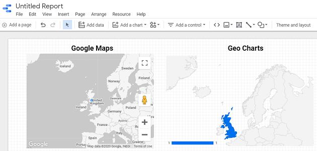 Google Data Studio Geo Map