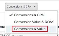 conversions and value 2