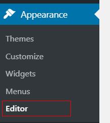Word press editor