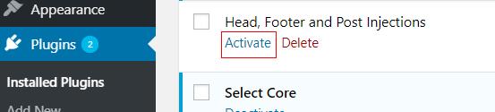 activate plugin 2