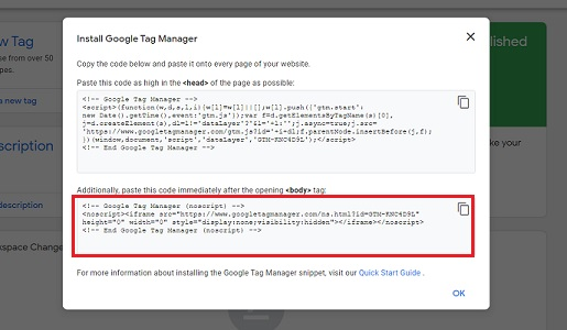 body install google tag manager