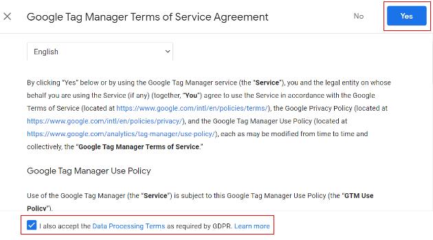google service agreement