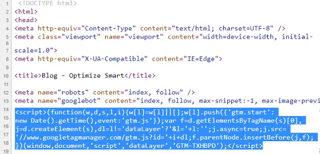 head install google tag manager2 1