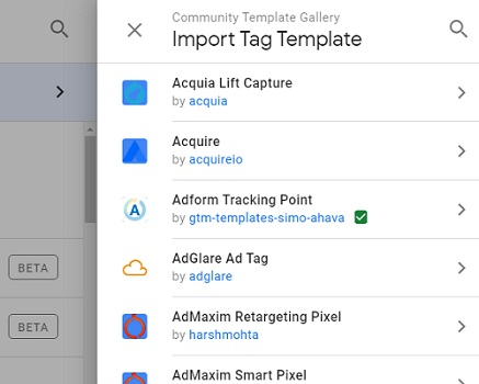 import tag template