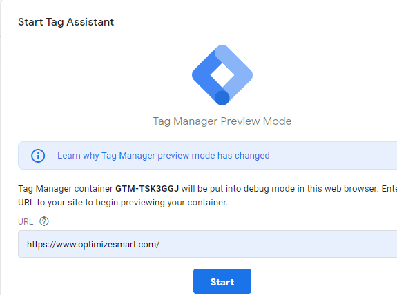 GTM Preview Mode URL Update
