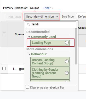 Landing Page secondaru dimension