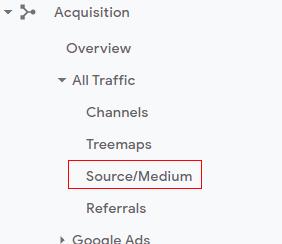 Source medium reports