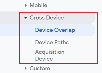 Google Analytics Cross Device Tracking Reports for User ID View