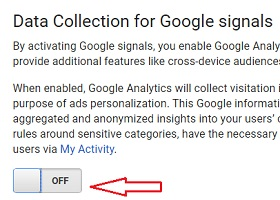 disable google signals
