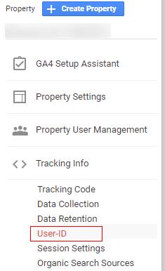 ga user id admin section