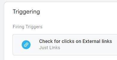 gtm event tracking firing trigger check for external links
