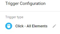 gtm event tracking trigger type click all elements