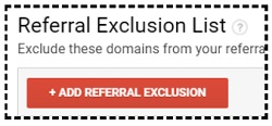 referral exclusion list add referral exclusion button