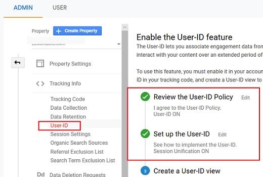 User ID in Google Analytics