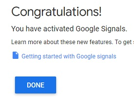 you have activated google signals