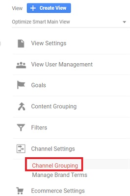 channel settings channel grouping 1
