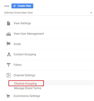 channel settings channel grouping