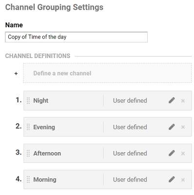 copied channel grouping