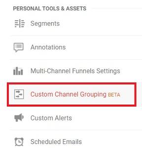 custom channel grouping