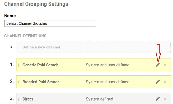 edit generic paid search