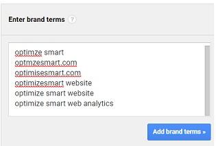 enter brand terms