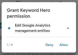 grant keyword hero permission