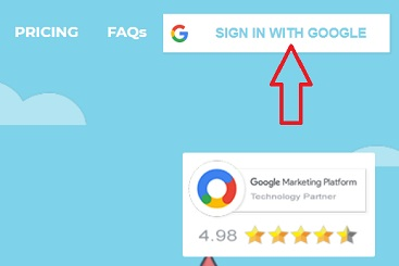 sign in with google button