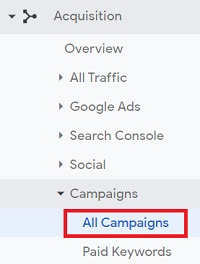 utm tracking all campaigns report