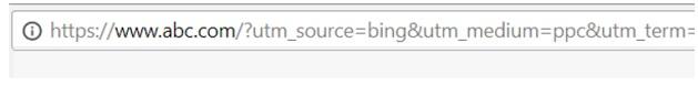 utm tracking browser address bar