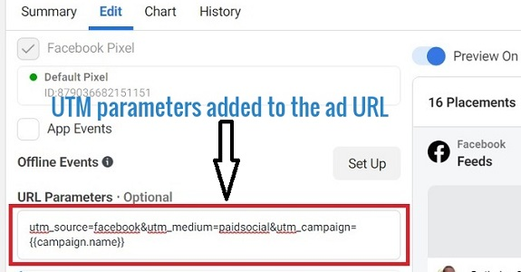 utm tracking utm parameters added to ad url
