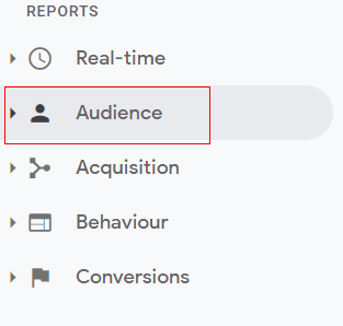 Audience overview reports