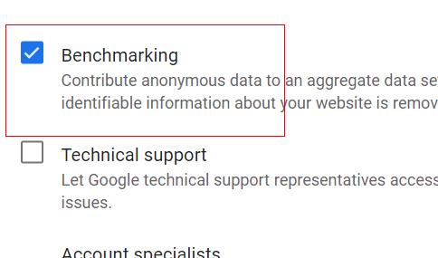 Benchmarking setting