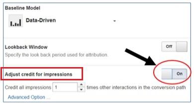 adjust credit for impressions 1
