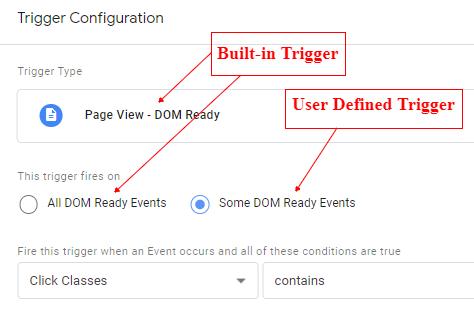 built in user defined
