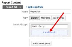 calculated metrics add metric