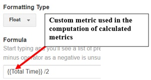 calculated metrics custom metric