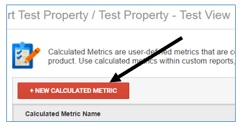 calculated metrics new button