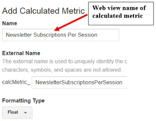 calculated metrics web view name1