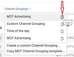 copy channel grouping