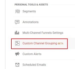 custom channel grouping beta