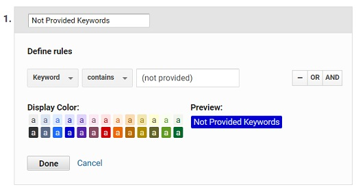 not provided keywords channel