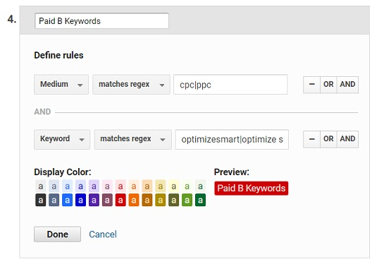 paid branded keywords channel