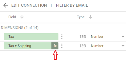Click on the fx icon next to the calculated field