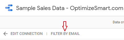 FILTER BY EMAIL 1